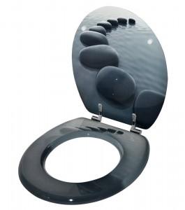 Toilettendeckel Steine