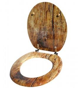 Toilettendeckel aus Holz