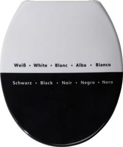 Toilettendeckel Schwarz Weiß