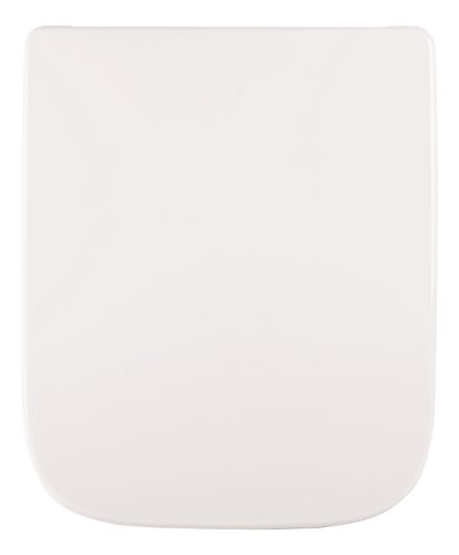 WC-Sitz passend zu Renova Nr. 1 Plan | Keramag | Weiß | Toilettensitz | WC-Brille aus Duroplast-Kunststoff | Edelstahl-Scharnier
