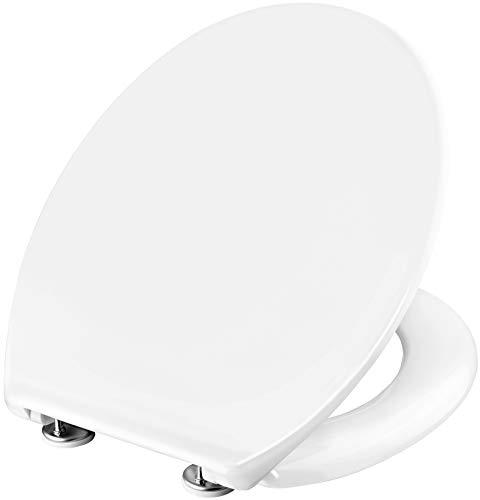 Cornat WC-Sitz Calisto - Klassisch weißer Look - Pflegeleichter Duroplast - Schlichtes Design passt in jedes Badezimmer / Toilettensitz / Klodeckel / KSCAL00