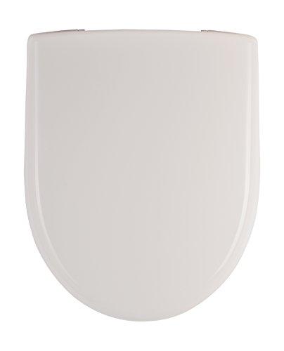 Keramag 573010000 WC-Sitz Renova Nr. 1, mit Deckel Scharniere: Edelstahl, weiß, 1-573010