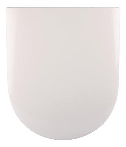 WC-Sitz passend zu Subway / Artic / Omnia Achitectura, Villeroy & Boch, Weiß, Toilettensitz, WC-Brille aus Duroplast-Kunststoff, Soft-Close-Absenkautomatik, Edelstahl-Scharnier
