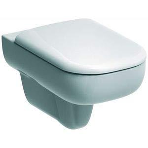 Keramag 571500000 WC-Sitz Smyle weiß mit Deckel und Scharnieren aus Messing verchromt