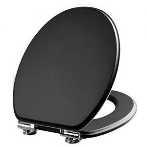 Toilettensitz schwarz glänzend