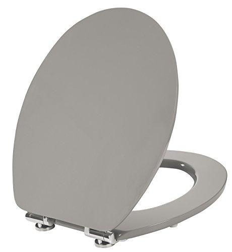 Wirquin 20719923 WC-Sitz, Color Line Diplomat, Soft-Close-Technik, Taupe