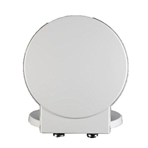 S-graceful WC-Sitz Mit Antibakteriellem Harnstoff-Formaldehydharz Mute Thicken WC-Sitzbezug Für Runde Toilettenform Toilettendeckel,White-41.1-45.7 * 40CM