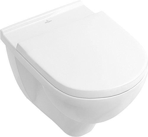 Villeroy & Boch, Haro 4035300916733 Wand-WC Komplett-Set spülrandlos, 1 Stück weiß