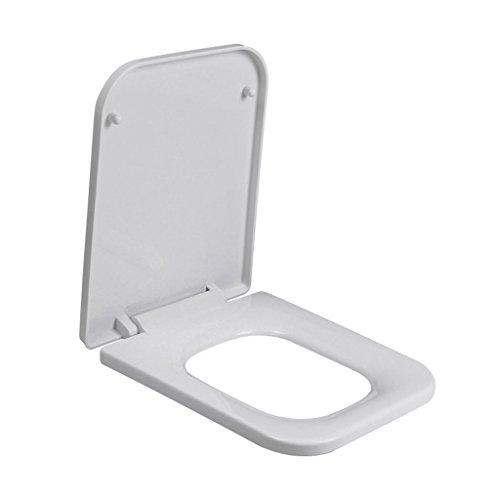 DOOD PP Roh Rechteckig Gepolsterte Stumme Toilettensitz/Eckig Toilettendeckel/Toilettensitzabdeckung,A-43cm*33cm