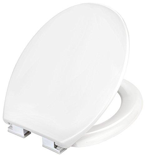 Cornat WC-Sitz Tarox 2.0 - Klassisch weißer Look - Pflegeleichter Duroplast - Absenkautomatik - Schlichtes Design passt in jedes Badezimmer / Toilettensitz / Klodeckel / KSTASCOH00