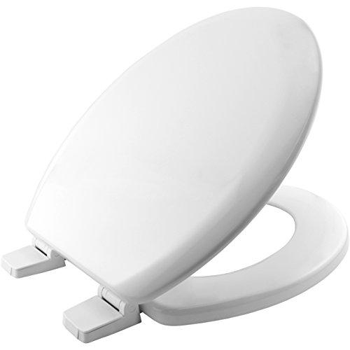 Bemis 5000AR000 CHICAGO Formholz WC-Sitz mit Kunststoff Scharnieren Weiß 46.6 x 37.8 x 6.2 centimeters