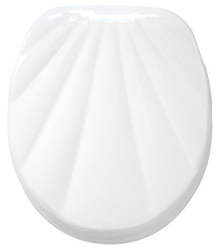 Sanilo WC Sitz mit Absenkautomatik Muschel Weiß | hochwertige Oberfläche | einfache Montage | stabile Scharniere   A660433