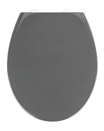 Wenko Premium WC-Sitz Samos Grau mit Absenkautomatik Duroplast 44.5 x 37.5 x 5 cm