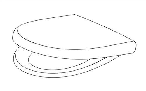 Pagette Kadett 300 S WC-Sitz weiss, 791881802, passend zu Keramag 4U/iCon und Renova Nr. 1 Neu