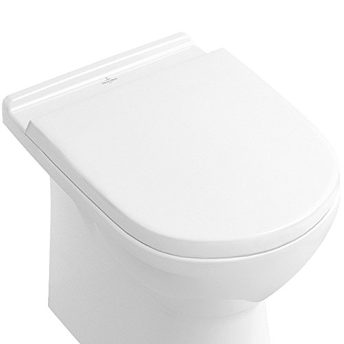 Villeroy & Boch WC-Sitz O.novo, weiß Soft Closing, Scharniere aus Edelstahl
