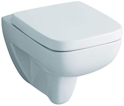 Keramag WC-Sitz Renova Nr. 1 Plan, hochwertiger Toilettensitz mit Deckel aus stabilem Duroplast und Edelstahlscharnieren, weiß, Art.Nr. 572110000