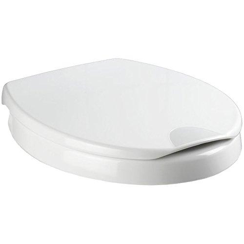 WENKO 21905100 WC-Sitz Secura Comfort - Toilettendeckel mit 5 cm Sitzerhöhung und Absenkautomatik, Kunststoff, weiß