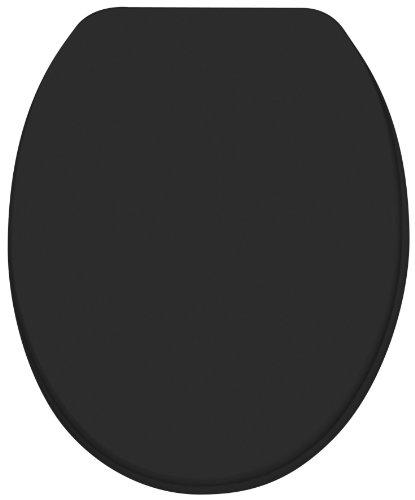 Diaqua 31170080 WC Sitz Paris Slow Motion, MDF FSC 100 %, 42 bis 47 x 37.2 cm, schwarz