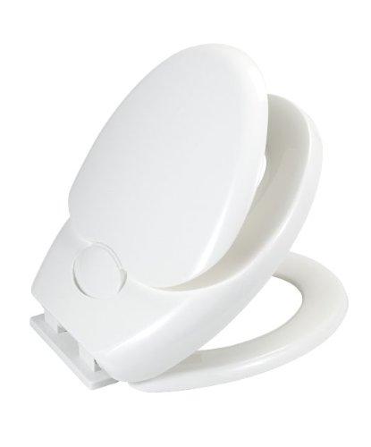 Wenko 110003100 WC-Sitz Family - Doppelsitz, Absenkautomatik, Fix-Clip Hygiene Kunststoffbefestigung, Kunststoff - Thermoplast, 36/37.5 x 40.5/44 cm, weiß