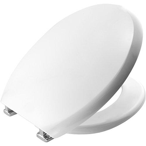 Bemis 2030CPT Torino Sta-Tite Durolux  Wc-Sitz mit STA Tite-Chrom, mit Scharnieren, weiß