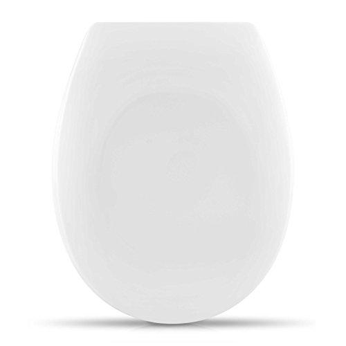 """WC Sitz mit Absenkautomatik -""""Royal White"""" Design - Duroplast Toilettendeckel mit Motiv inkl. Montagesatz - Grinscard"""