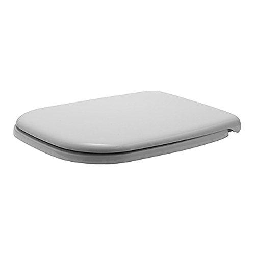 Duravit 67390099 - WC-Sitz D-Code Compact mit SoftClose Scharniere Kunststoff, 1 Stück, weiß, - 43,8 x 35,9 x 5 cm
