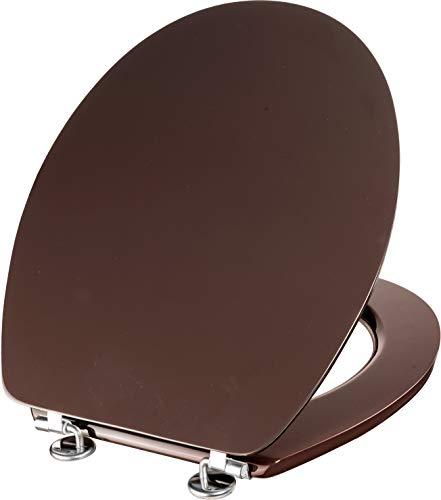 Cornat WC-Sitz Telo - Schlichter Look in braun - Hochwertiger Holzkern - Komfortables Sitzgefühl - Unifarbenes Design passt in jedes Badezimmer / Toilettensitz / Klodeckel / KSTEL63