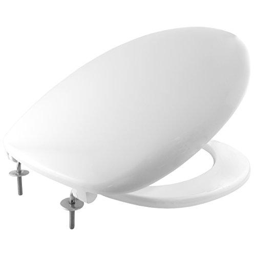 Bemis 2001STXT000 IMOLA Duroplast WC-Sitz mit STA-TITE Fixierungssystem, für ein wackelfreies Sitzvergnügen Weiß