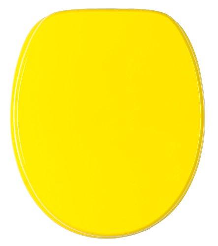 WC Sitz mit Absenkautomatik, hochwertige Oberfläche, einfache Montage, stabile Scharniere, Gelb