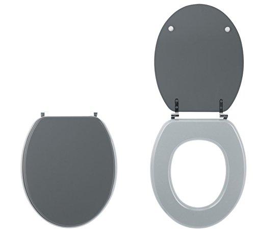 Wirquin Bi-Color Line 20719739 WC-Sitz, anthrazitgrauer Deckel, hellgraue Brille