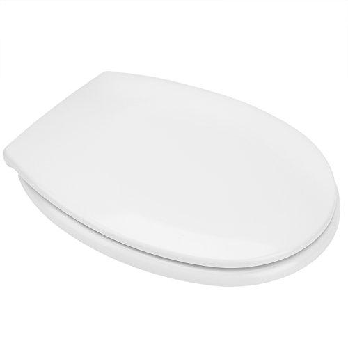 DEUBA WC Toilettendeckel Absenkautomatik | Klodeckel mit Edelstahlscharnieren | Toilettensitz Duroplast | inkl. Montagematerial