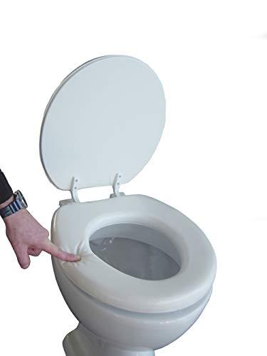 Soft WC Sitz gepolstert Farbe weiss