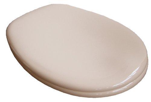 VCM WC Klo Sitz Toilettendeckel Deckel Brille Toilettensitz Klodeckel Venezia - Verstellbare Edelstahlscharniere beige