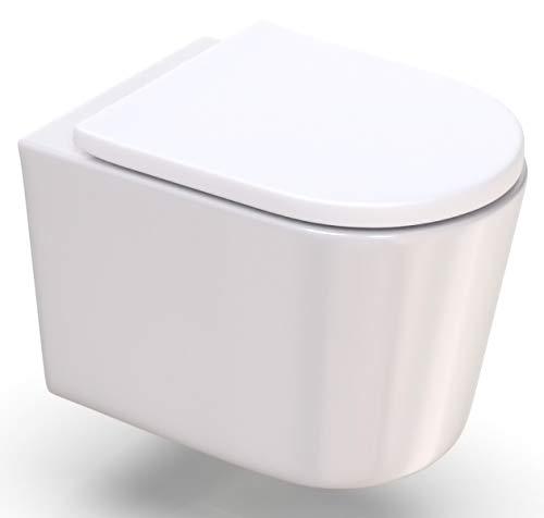 WC Sitz weiß D-Form Absenkautomatik Softclose abnehmbar Toilettendeckel überlappend Klobrille Klodeckel aus Duroplast by ROYAL