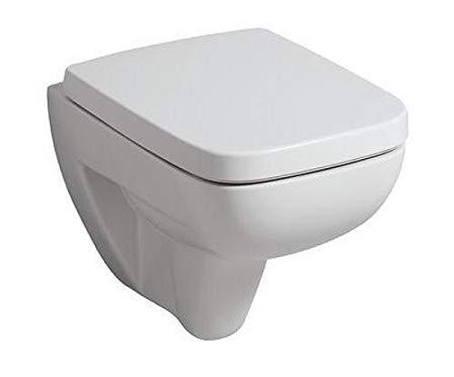 Toilettendeckel / WC - Sitz Renova Nr. 1 Plan   mit Deckel, Scharniere aus Edelstahl, ohne Absenkautomatik   Material: Duroplast, Form: gerade Deckelform, Breite: 367 mm, Tiefe: 447 mm
