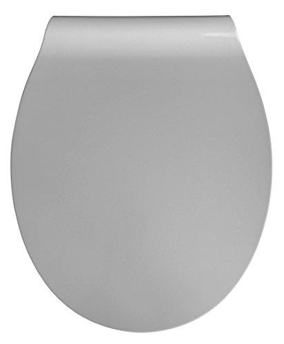 Eisl WC Sitz Slim GREY Duroplast, Absenkautomatik und Schnellverschluss, ED62MG