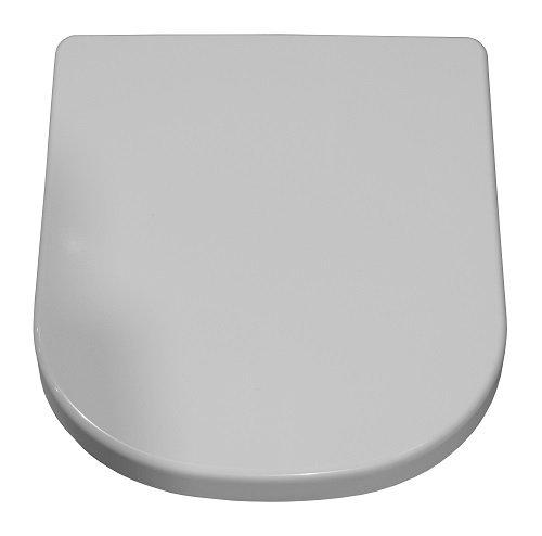 Keramag WC-Sitz Renova Nummer 1 Plan, Scharniere in Edelstahl weiß, 572140000