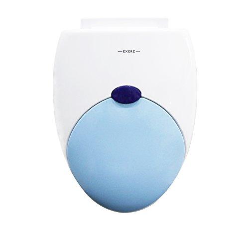 """Exerz PP-052 18"""" Familien-WC-Sitz mit eingebautem Kindersitz Töpfchen für Kinder Erwachsene/Toilettensitz/ stabile Scharniere/leicht zu montieren/Badezimmer Waschraum WC (Blau)"""