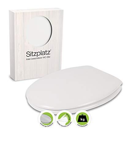 SITZPLATZ - 40610 9 - WC Sitz Zamora in Weiß - WC Brille mit Active-Clean - Toilettensitz mit Holz-Kern & Fast-Fix Schnellbefestigung