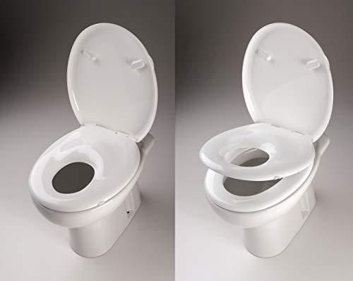 WC-Sitz f/ür Familien und Kinder mit sanfter Schlie/ßfunktion
