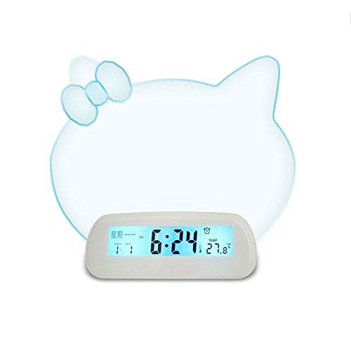 Minidiva Clock LED Luminous Digital Hellokitty Fluorescent Message Board Silent Alarm