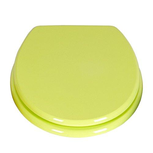 SANWOOD WC-Sitz Elba grün mit Absenkautomatik Soft Close, Toilettensitz aus Duroplast 45.5 x 38 x 5 cm