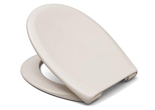 """Cedo WC Sitz """"Kapalua Beach"""" In Pergamon  mit Absenkautomatik Softclose Classic® , abnehmbar mit TakeOff Original® Abnahmefunktion; aus Duroplast für ovale Keramiken mit Befestigung von unten"""