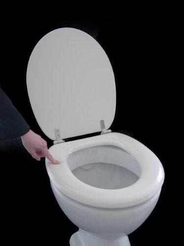 Polsi Soft WC Sitz gepolstert Farbe pergamon mit Edelstahlscharnieren