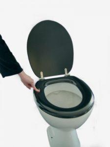Toilettensitz gepolstert