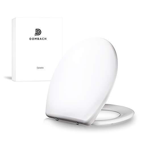Dombach Celesto Toilettendeckel • der innovative Premium WC-Sitz mit Softclose/Absenkautomatik - Quick-Release - Toilettensitz Antibakteriell aus Duroplast und rostfreiem Edelstahl - WC-Deckel