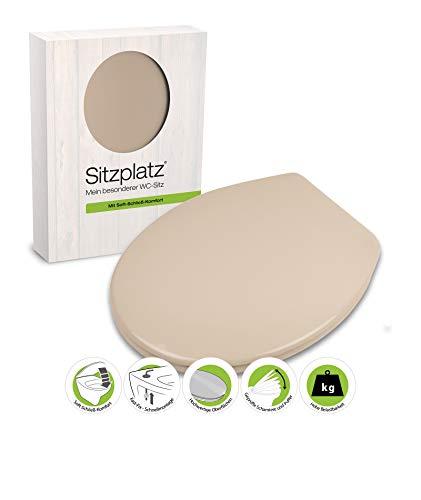 WC-Sitz Siena beige mit Soft-Schließ-Komfort