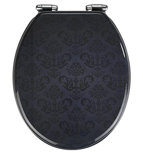 Wenko 22977100 WC-Sitz, Grau, 42.5 x 35.5 cm