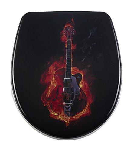 DIAQUA WC-Sitz Nice Slow-Motion, Hard rock, 40,5-46 x 37,5 cm, schwarz, 31171230