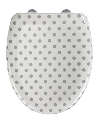 Asiento Tapa WC Punto Blanco/Gris Durop